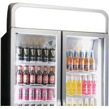 Husky 2 Glass Door Commercial Bar Fridge Lightbox Canopy (Add in section to right of pics)