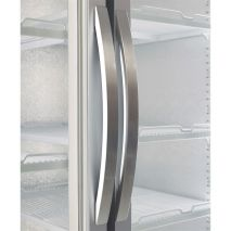 Husky 2 Glass Door Commercial Bar Fridge Chromed Handles Self Closing Doors