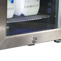 Mini Milk Fridge For Use With Coffee Machines Lock