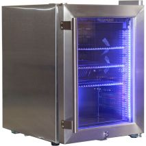 Stainless Steel Mini Glass Door Bar Fridge - *Pic doesn't show teh Checkerplate decal.