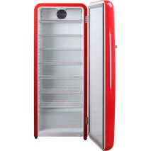 Red Retro Upright Bar Fridge 208Litre Inner