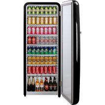 Black Retro Bar Fridge Great For Extra Drinks