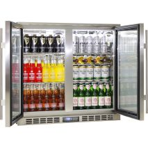 Rhino 2 Door Triple Glass Door Bar Fridge - Great Warranty, In Best 2 Lowest Energy Consumption On Australia Market, LOW E Glass To Prevent Condensation