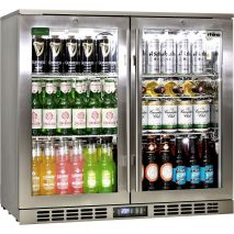 Rhino 2 Door Triple Glass Door Bar Fridge - Front Venting So Can Be Built Into Cabinetry, You Cannot Have 'Direct Sunlight'