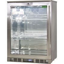 Rhino 1 Door Triple Glass Door Bar Fridge - Low E Glass Helps Prevent Condensation