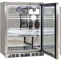 Rhino 1 Door Triple Glass Door Bar Fridge - Self Closing Door And Adjustable Shelves