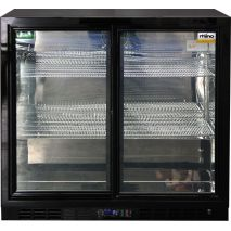 Rhino 2 Sliding Glass Door Bar Fridge Model SG2S-B front