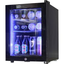 Black Mini Glass Door Bar Fridge