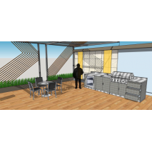 Schmick Alfresco Outdoor Kitchen Extra Stainless Steel Location3