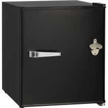 Retro Black Vintage Mini Bar Fridge BC46