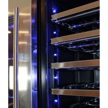 Schmick Upright Beer And Dual Wine Fridge - Soft Blue Led Lights Give A Cosy Feeling