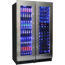 Beer and Wine Bar Fridge Dual Zone Wine