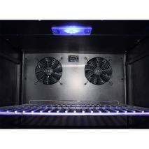 Upright Schmick Glass Door Fridge - Special Quiet 'Noctua' Brand Fans For Optimal Noise Reduction