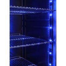 Upright Schmick Glass Door Fridge - Soft Blue Led Lights That Can Be Turned On Or Off