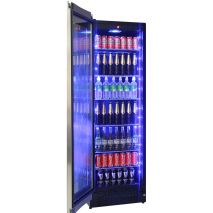 Upright Schmick Glass Door Fridge Full