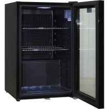 Schmick Black Quiet Bar Fridge - Reversible Door With Lock