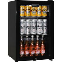 Black Schmick 86 Can Bar Fridge LOW E Glazed Glass Door And Lock