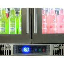 Rhino Envy 2 Door Bar Fridge - German Danfoss Eco Controller