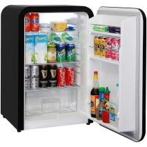 Schmick Black Retro Bar Fridge Plenty Of Shelf Adjustments