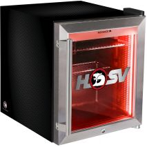 Holden HSV Glass Door Mini Bar Fridge Tropical Rated 50 Litre Triple Glazed