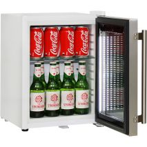 Cosmetics / Drinks Mini Bar Fridge With Tempered Glass Flat Shelves