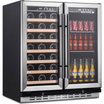 Dual Zone Under Bench Indoor Beer And Wine Fridge