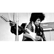 1969 Fender Stratocaster, original pick-ups, maple neck, strung upside down for a left-handed MF-ing genius, Jimi Hendrix