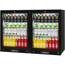 Alfresco black outdoor Rhino Bar Fridge Model SG1-Combo - 2 x Single Door Units Side By Side
