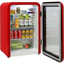 Schmick Red Retro Bar Fridge - Low Energy Consumption