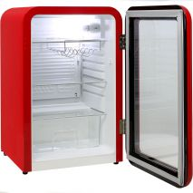 Schmick Red Retro Bar Fridge With Retro Chromed Handle And Opener