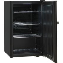 Retro Black Bar Fridge BC70 - Plenty OF Shelving Arrangements