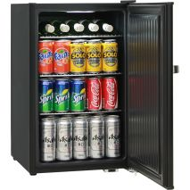 Retro Black Bar Fridge BC70 - Inner Led Comes On When Fridge Opens