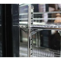 Rhino Double Door Bar Fridge - S/S Runner And Adjustable Chromed Shelving