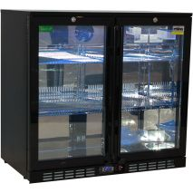 Rhino Nightclub Pub Bar 2 Fridge With Multi LED Light Options -  Model SG2H-NC - White