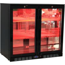 Rhino Nightclub Pub Bar 2 Fridge With Multi LED Light Options -  Model SG2H-NC Purple