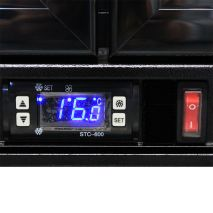 Rhino Double Door Bar Fridge - Electronic Control, Light switch and Power Switch Easy Access