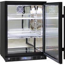 Quiet Running Indoor Rhino Bar Fridge Model SG1R-BQ - Polished Stainless Interior