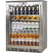 Rhino 1 Door Triple Glass Door Bar Fridge - See Wine Shelving Inside