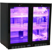 Rhino Nightclub Pub Bar 2 Fridge With Multi LED Light Options -  Model SG2H-NC