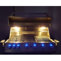 Halogen Cooking Lights and Blue Led Lighting On Knobs
