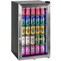 Alfresco Glass Door Drinks Fridge - Stainless bar handle and door