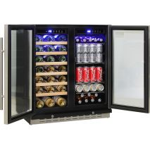Schmick Dual Zone Under Bench Indoor/Outdoor Beer And Wine Fridge 2 x Independent Zones