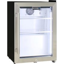 Schmick Mini Glass Door Shallow Bar Fridge - Led Strip Lights - UNIT HAS WHITE INTERIOR, NOT BLACK AS SHOWN