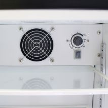 Schmick Mini Glass Door Shallow Bar Fridge - Inner Fan, Triple Glazed For Nice Cool Temperatures