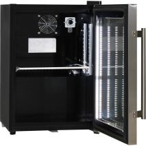 Schmick Mini Glass Door Shallow Bar Fridge - Inner Controls For Light And Temperature, UNIT HAS WHITE INTERIOR, NOT BLACK