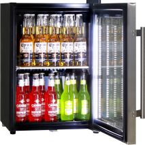 Schmick Mini Glass Door Shallow Bar Fridge - Self Closing Door