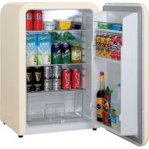 Schmick Ivory Retro Bar Fridge With Lots Of Spots For Goodies