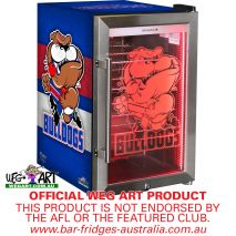 Weg Art Bar Fridge Western Bulldogs