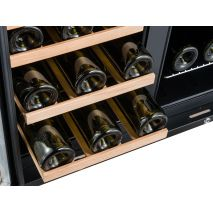 Dual Zone Under Bench Indoor Beer And Wine Fridge - Shelves Slide Out For Easy Access