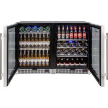 Schmick Beer And Wine Matching Indoor Quiet Running Fridge Combination Model YC151G-Combo Control